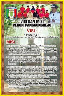 Desain Banner Visi Misi Pekon Panggungrejo
