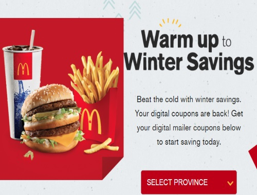 McDonalds Warm Up To Winter Savings Coupons
