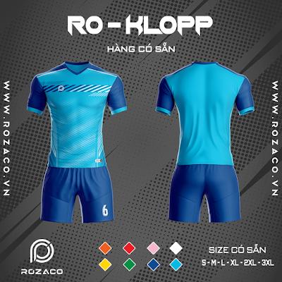 Áo Không Logo Rozaco RO-KLOPP Màu Xanh Ya
