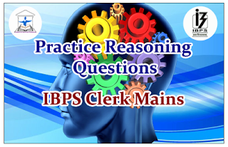 Reasoning Questions (Sitting circle) for IBPS Clerk Mains
