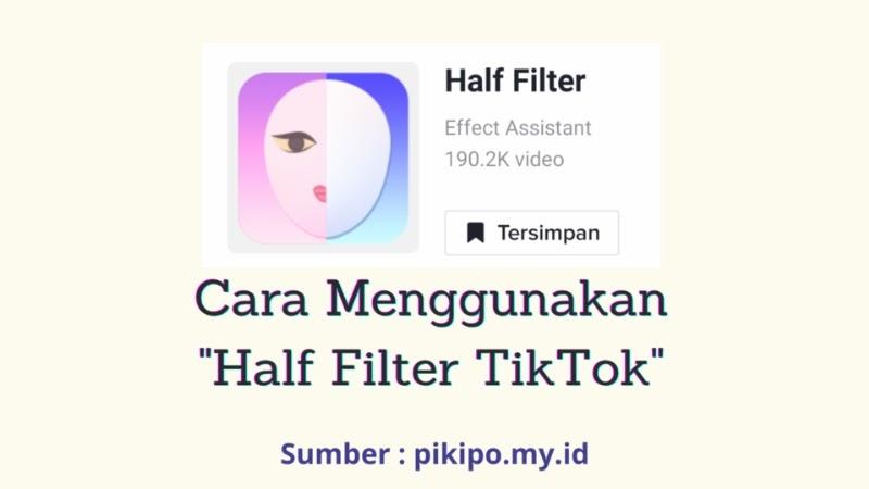 Tren Half Filter Lagi Viral di TikTok, Simak Cara Menggunakan Half Filter Tiktok Disini