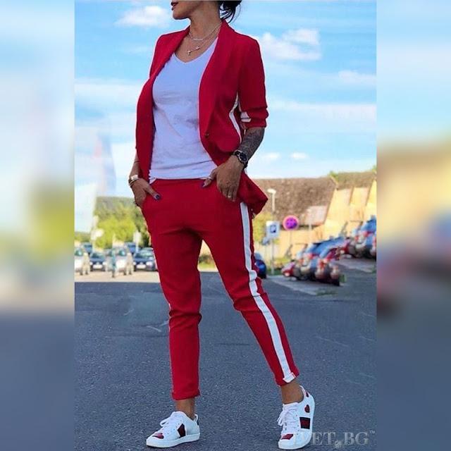 Γυναικείο κόκκινο σύνολο ANDIKA RED