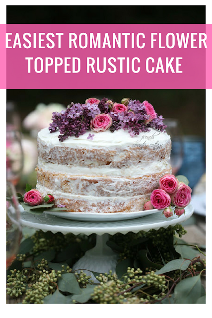 Easiest flower topped rustic naked cake recipe