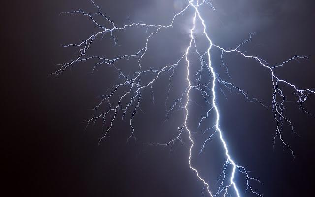 Grote bliksemflits met vertakkingen