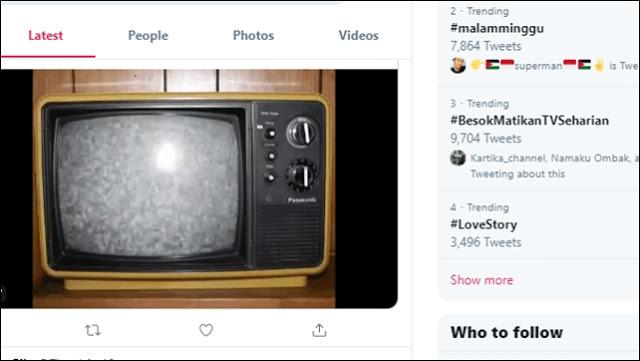 Tagar #BesokMatikanTVSeharian Tranding Topik Jelang Pelantikan Jokowi