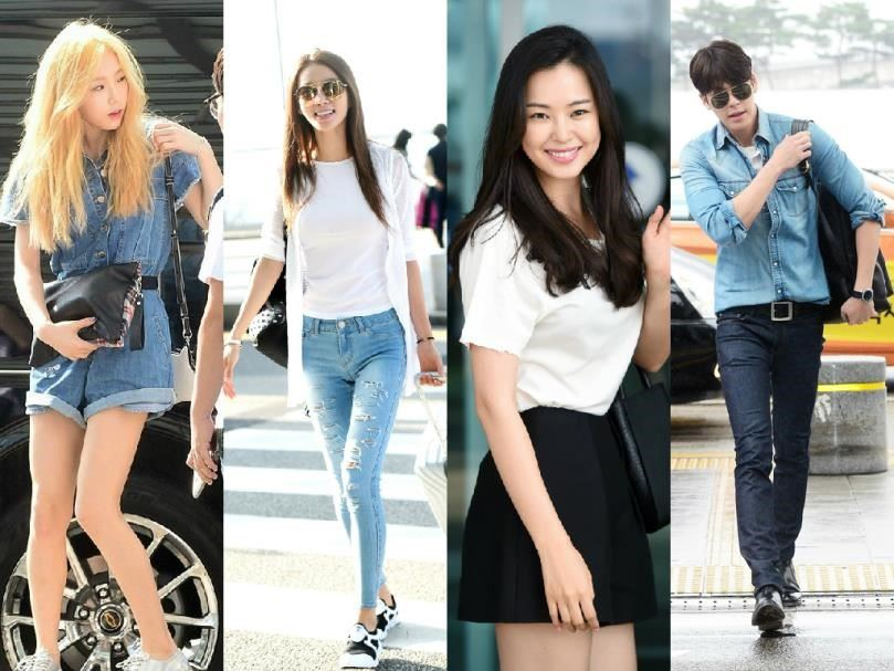 kim tae hee airport fashion