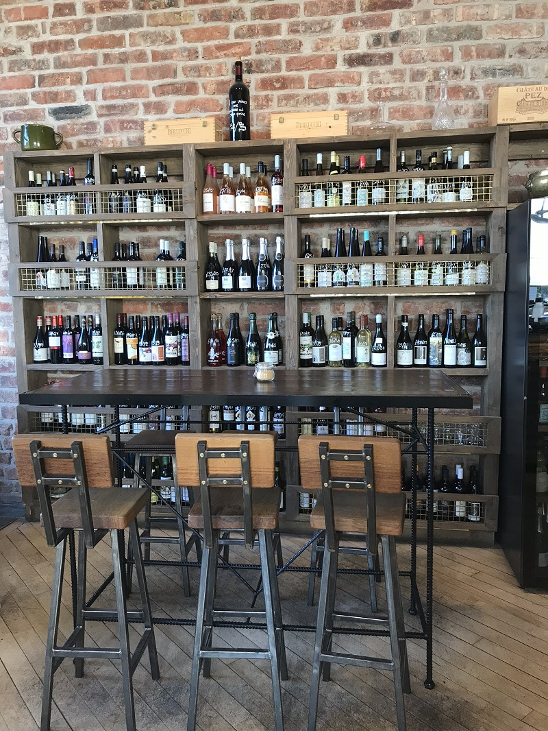 Wine selection inside Toast, Leith