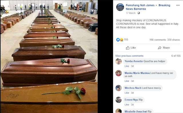 This picture of coffins has no relation to Covid-19 deaths in Italy