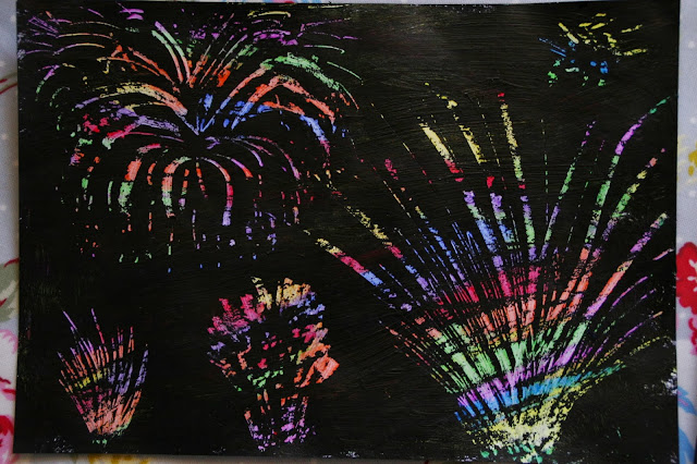 Firework Explosion Craft Activity