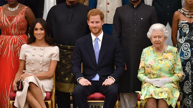 """La reina Isabel II pone fin a los planes de príncipe Enrique y Meghan Markle sobre su propia """"marca filantrópica"""""""