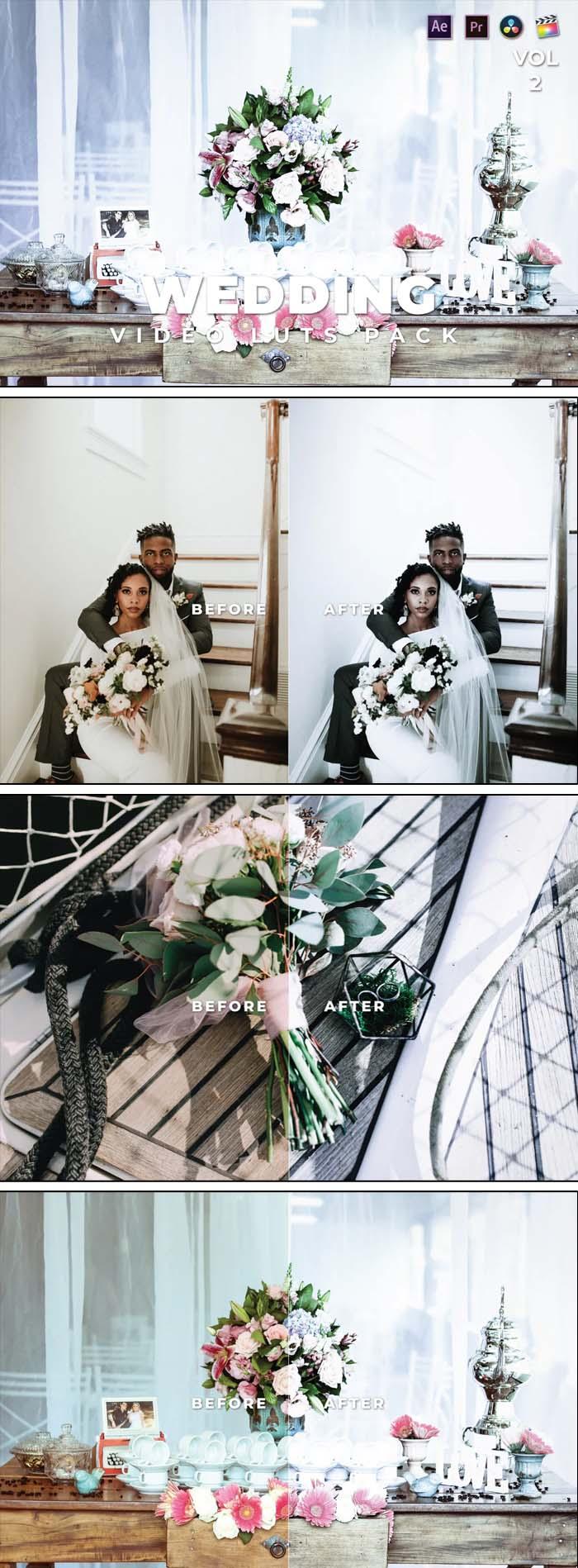 Wedding Pack Video LUTs Vol.2