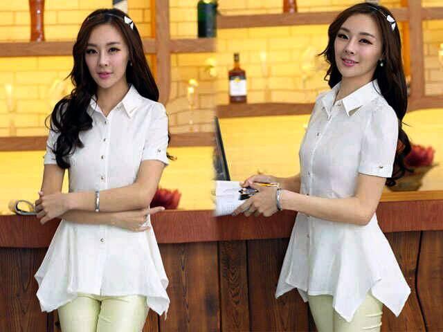 Baju Kemeja Putih Polos Wanita Terkini