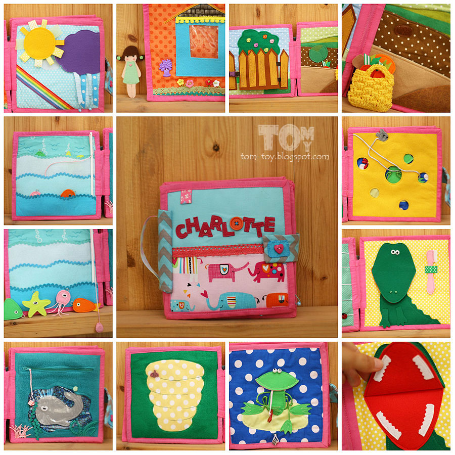 Quiet book for Charlotte - fabric activity busy book for children by TomToy