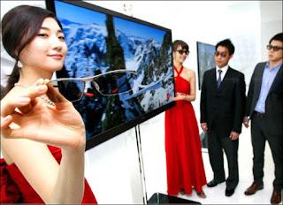επίδειξη  τηλεόρασης LG 3D