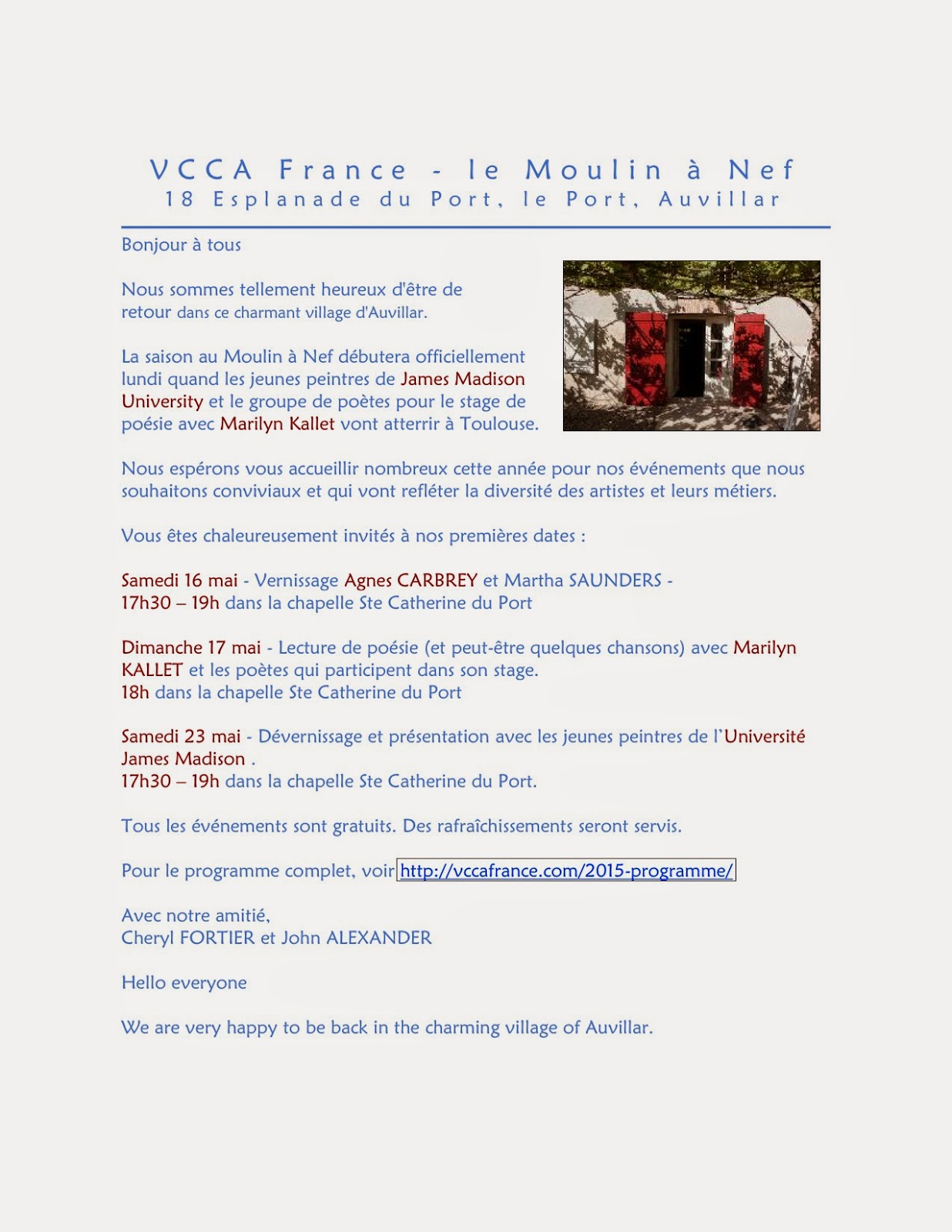 Vcca France News Vcca