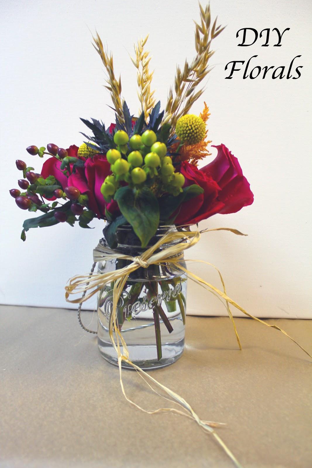 The Hourglass: DIY Mason Jar Floral Arrangements