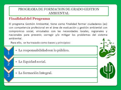 Finalidad Del Programa Gestión Ambiental