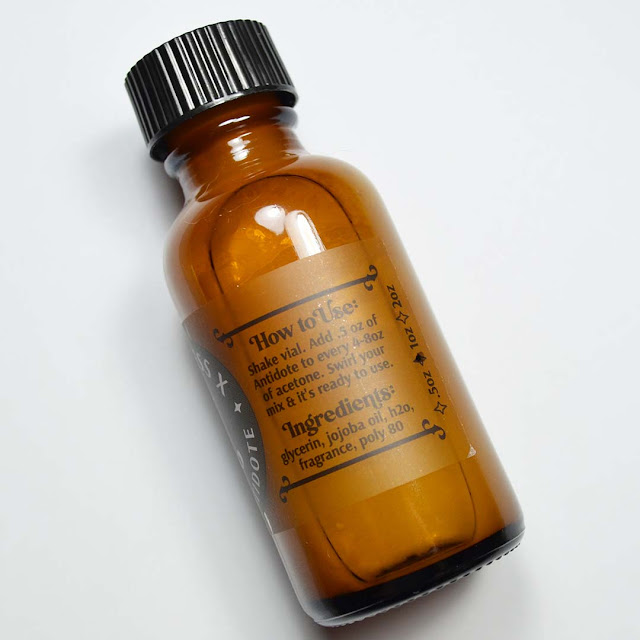 apple scented acetone additive in a bottle
