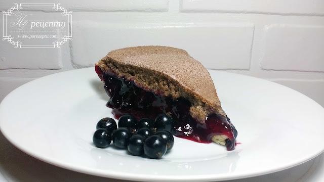 пирог со свежей смородиной