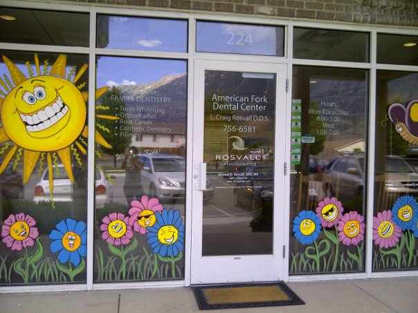Bawden Fine Murals: window painting/ seasons Spring,Summer ...