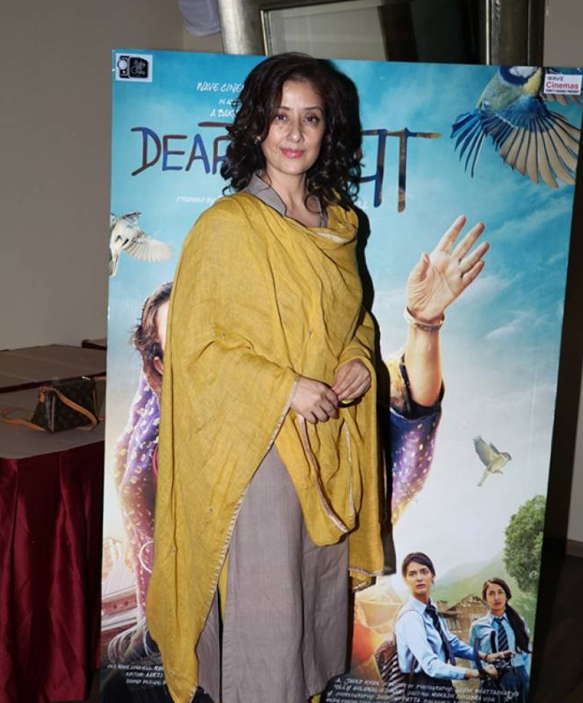 Manisha Koirala During Media Interaction for Movie 'Dear Maya'