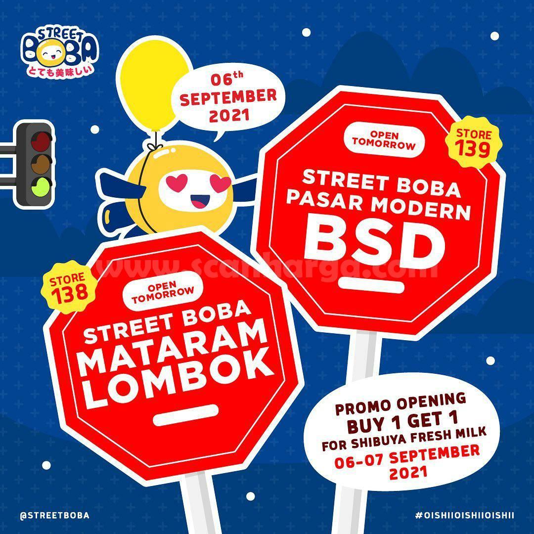 Street Boba Pasar Modern BSD Opening Promo Beli 1 Gratis 1