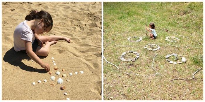 manualidades, diy, crafts, actividades infantiles primavera motricidad fina, mandalas naturales