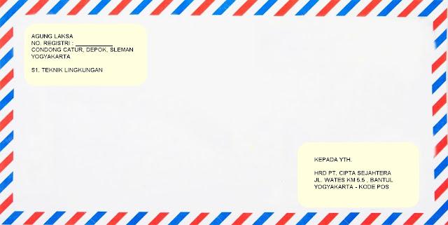 Contoh Amplop Surat Lamaran Kerja Terbaik dan Terbaru ...
