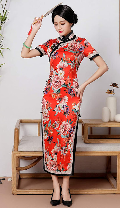 Silk Cheongsam Qipao Traditional Chinese Dress For Women