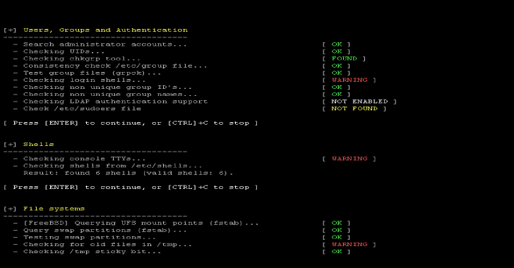 Lynis : Security Auditing Tool for Unix/Linux Systems