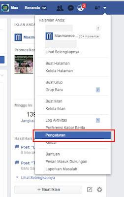 link Pengaturan facebook
