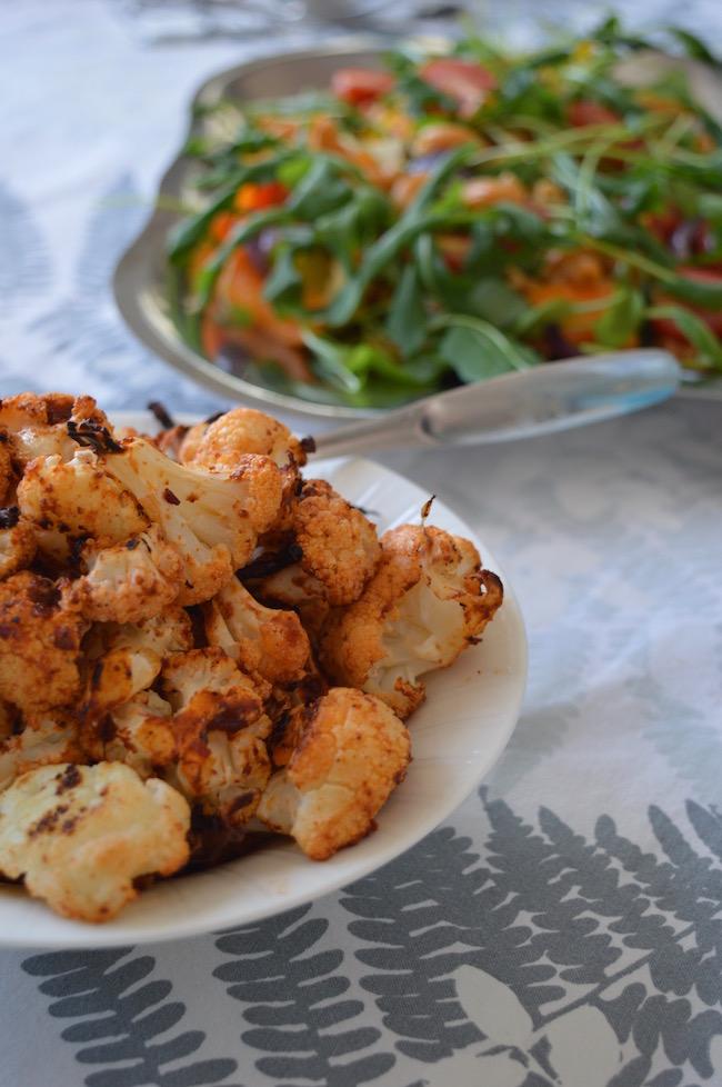 kikhernemakaroni, salaatti, papupasta, Tervens oy