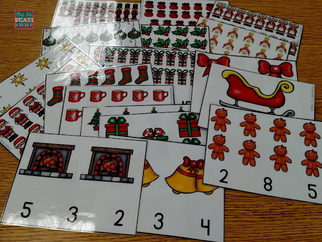 photo of Christmas clip cards for sets