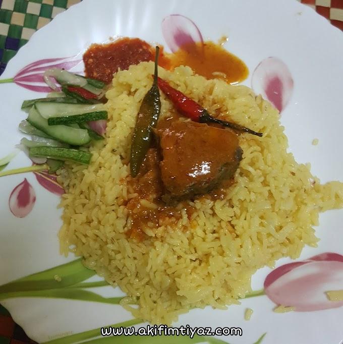 Percubaan Pertama Kali Masak Nasi Kuning Berjaya!