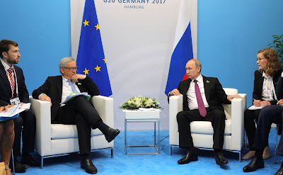 Vladimir Putin met with President of the European Commission Jean-Claude Juncker.