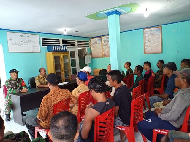 Bappeda dan Satgas TMMD Sosialisasi Pembangunan Daerah di Hiri