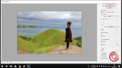 5. Silakan kalian atur tingkat blur nya, jika sudah klik OK