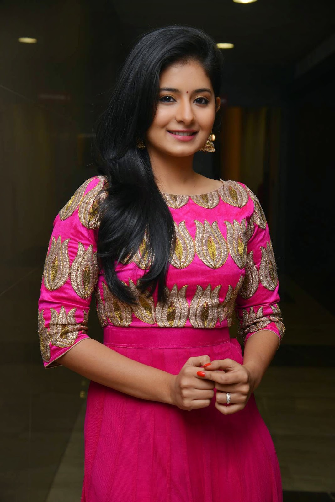 Actress Reshmi Menon Latest Cute Hot Beautiful Pink Dress Spicy Photos Gallery At Hyderabad Love Story Movie Audio Launch