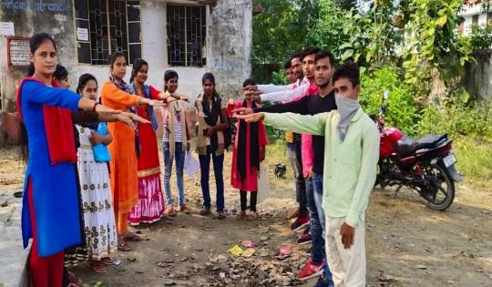 नेहरू युवा केंद्र के द्वारा विधानसभा चुनाव को लेकर मतदाता जागरूकता अभियान चलाया गया