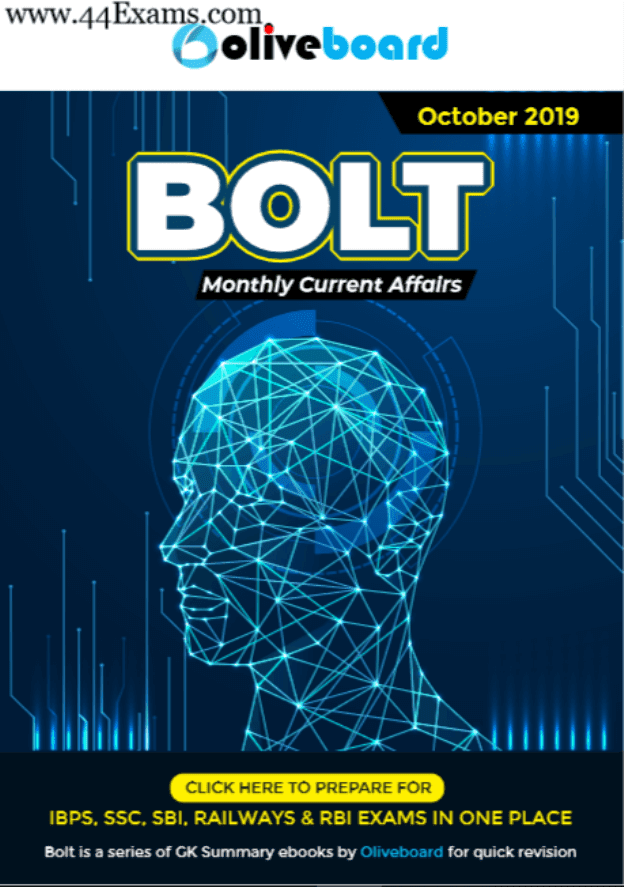 Bolt-Current-Affairs-October-2019-For-All-Competitive-Exam-PDF-Book