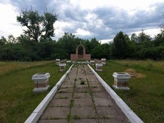 Каменка, Добропольский р-н. Братская могила погибших узников концлагеря