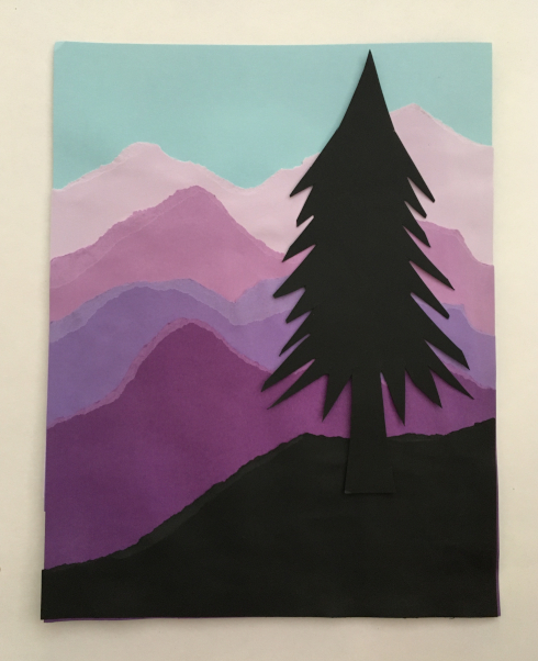 Arrangement 1:  Lone Tree on a Hill