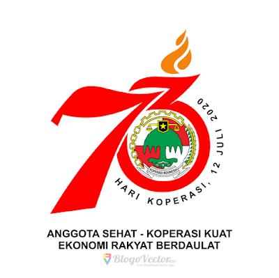 Hari Koperasi ke-73 (2020) Logo Vector