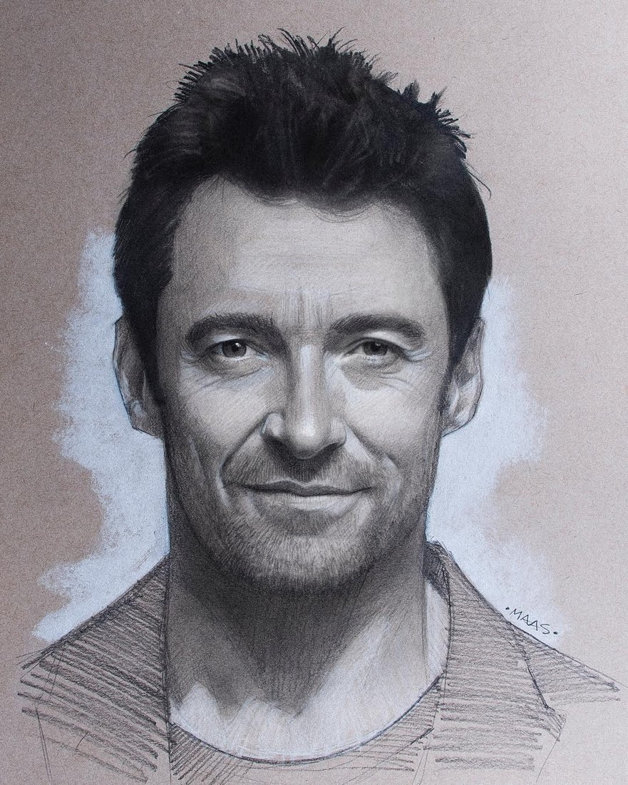 08-Hugh-Jackman-Justin-Maas-Pastel-Charcoal-and-Graphite-Celebrity-Portraits-www-designstack-co