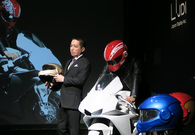 Tinuku JDI's XHD-01 Sparta smart helmet has head-up display