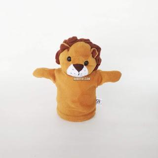 Boneka Tangan Hewan Singa Animal Hand Puppets