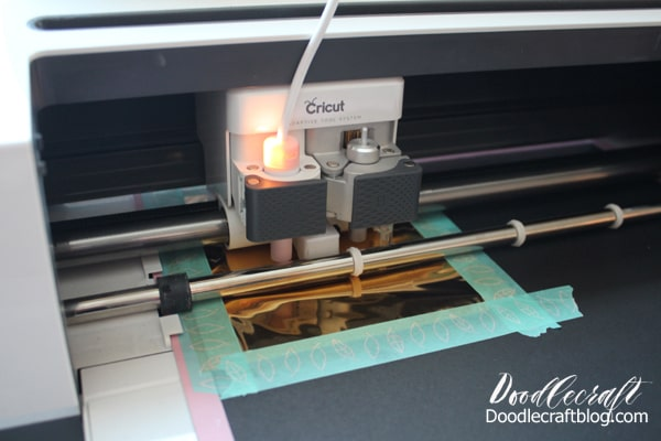 How to Use We R Memory Keepers Foil Quill with Cricut Maker to create foiled poinsettia Christmas cards.