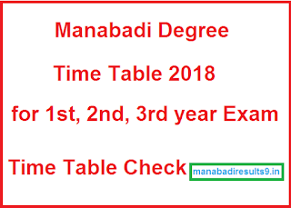 Manabadi Degree Time Table 2018, Schools9 Degree Time Table 2018