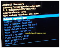 Samsung A8 Star Android recovery