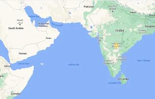 अरब सागर कहा है - arab sagar in hindi